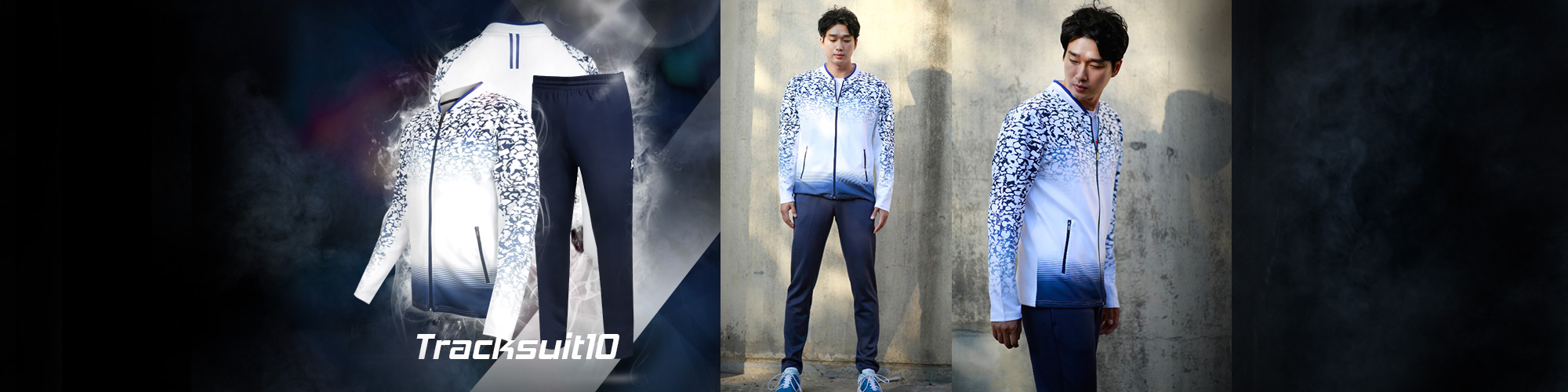 TRACK SUIT 10_White&Blue